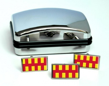 Northumberland (England) Flag Cufflink and Tie Pin Set