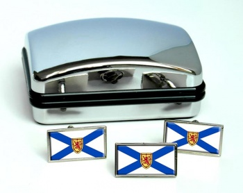 Nova Scotia (Canada) Flag Cufflink and Tie Pin Set