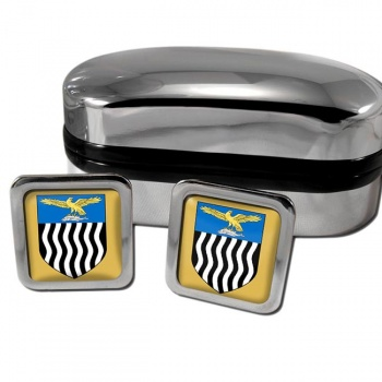 Northern Rhodesia Square Cufflinks