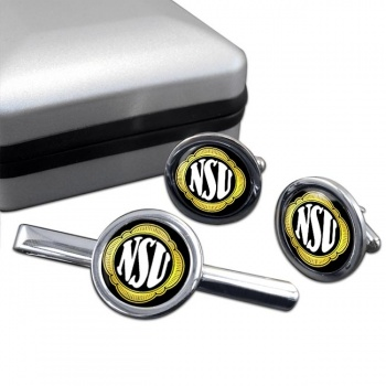 NSU Motorenwerke Cufflink and Tie Clip Set