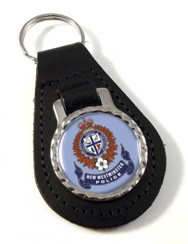 New Westminster Police (Canada) Leather Key Fob