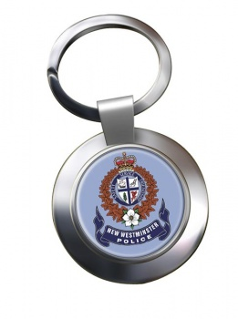 New Westminster Police (Canada) Chrome Key Ring