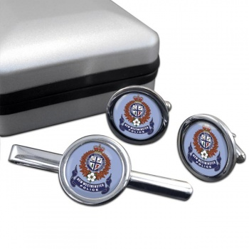 New Westminster Police (Canada) Round Cufflink and Tie Clip Set