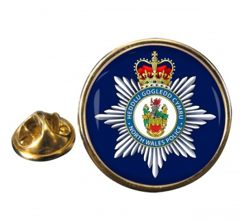 North Wales Police Round Pin Badge