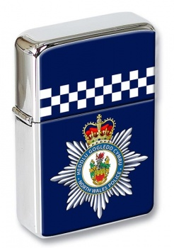 North Wales Police Flip Top Lighter