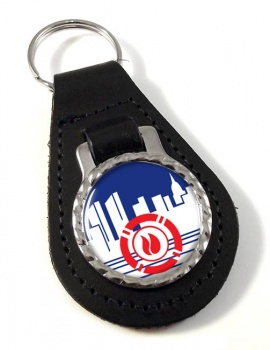 New York City Fire Department Leather Key Fob