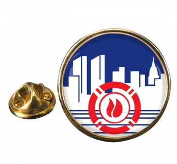 New York City Fire Department Round Pin Badge