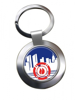 New York City Fire Department Chrome Key Ring