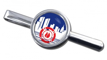 New York City Fire Department Round Tie Clip