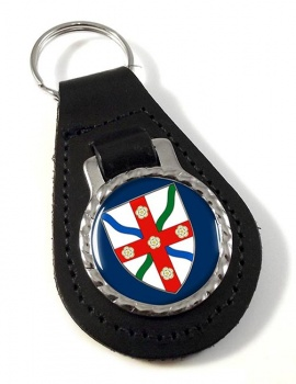 North Yorkshire (England) Leather Key Fob