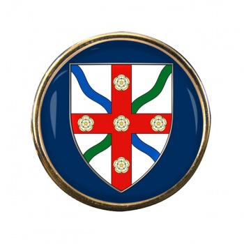 North Yorkshire (England) Round Pin Badge
