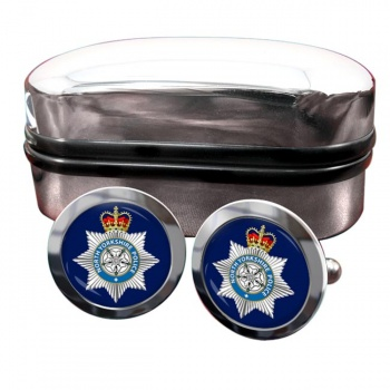 North Yorkshire Police Round Cufflinks