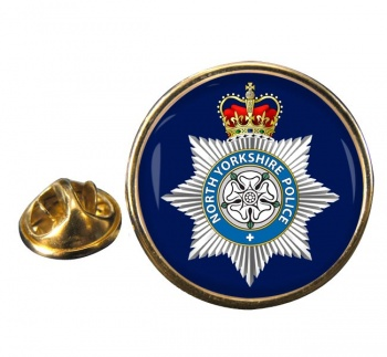 North Yorkshire Police Round Pin Badge