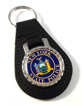 New York State Police Leather Key Fob