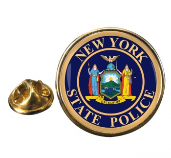 New York State Police Round Pin Badge