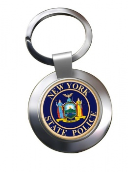 New York State Police Chrome Key Ring