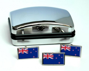 New Zealand Flag Cufflink and Tie Pin Set
