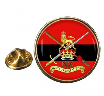 New Zealand Army Round Pin Badge
