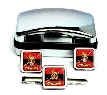 New Zealand Army Square Cufflink and Tie Clip Set