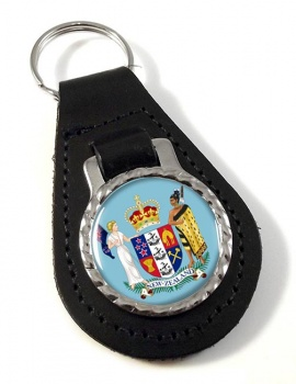 Coat of Arms (New Zealand) Leather Key Fob