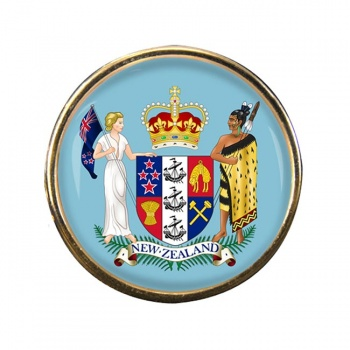 Coat of Arms (New Zealand) Round Pin Badge