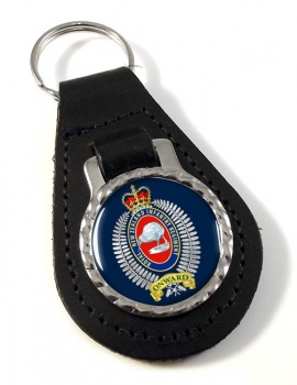 Royal New Zealand Infantry Regiment Leather Key Fob