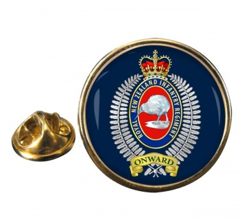 Royal New Zealand Infantry Regiment Round Pin Badge
