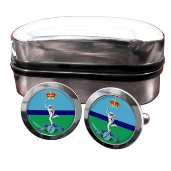 Royal New Zealand Corps of Signals Round Cufflinks