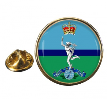 Royal New Zealand Corps of Signals Round Pin Badge