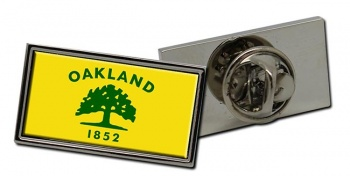 Oakland CA  Flag Pin Badge