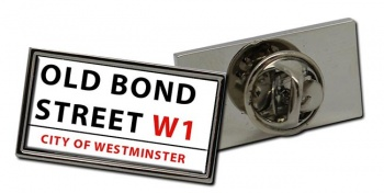 Old Bond Street Rectangle Pin Badge