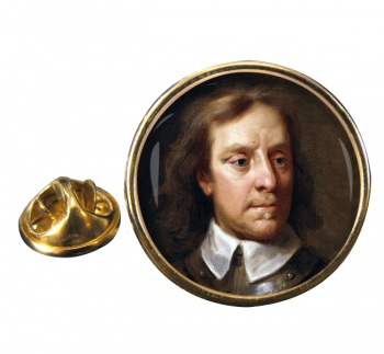 Oliver Cromwell Round Pin Badge
