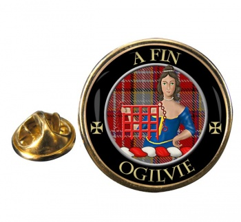 Ogilvie Scottish Clan Round Pin Badge