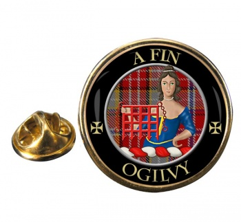 Ogilvy Scottish Clan Round Pin Badge