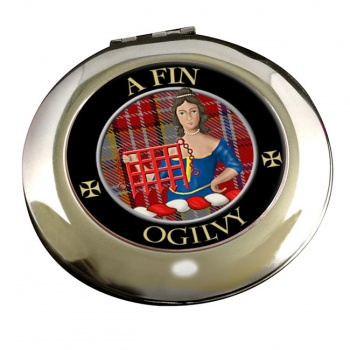 Ogilvy Scottish Clan Chrome Mirror