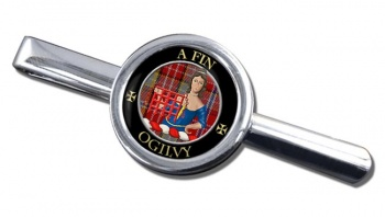 Ogilvy Scottish Clan Round Tie Clip