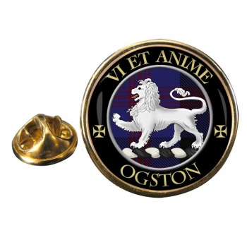 Ogston Scottish Clan Round Pin Badge