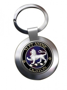 Ogston Scottish Clan Chrome Key Ring
