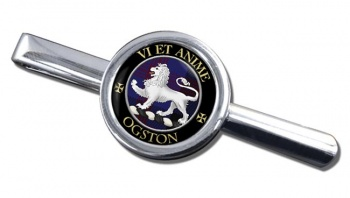 Ogston Scottish Clan Round Tie Clip