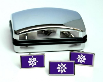 Okayama  (Japan) Flag Cufflink and Tie Pin Set