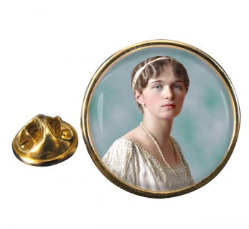 Grand Duchess Olga Nikolaevna of Russia Round Pin Badge