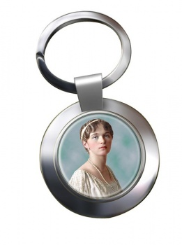 Grand Duchess Olga Nikolaevna of Russia Chrome Key Ring