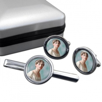 Grand Duchess Olga Nikolaevna of Russia Round Cufflink and Tie Clip Set
