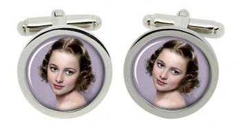 Olivia de Havilland Round Cufflinks