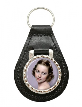 Olivia de Havilland Leather Key Fob