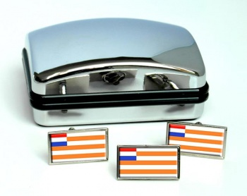 Orange Free State (South Africa) Flag Cufflink and Tie Pin Set
