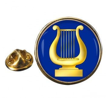 Masonic Lodge Organist Round Pin Badge
