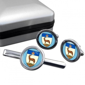 Orange River Colony (South Africa( Round Cufflink and Tie Clip Set