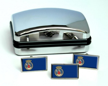 Oslo (Norway) Flag Cufflink and Tie Pin Set