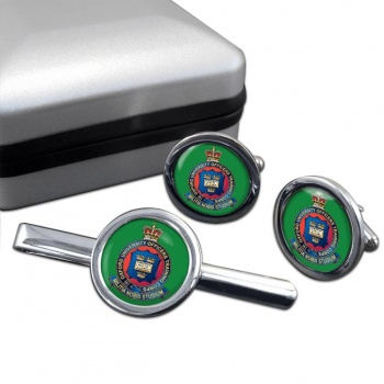 Oxford University OTC (British Army) Round Cufflink and Tie Clip Set